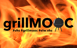 """Schriftzug """"grillMOOC"""" vor Flammenhintergrund © Uli Holzapfel"""