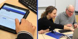 Lernende und Lehrende testen das neue Lernportal.