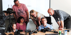 Streamingschulung im Deutschen Volkshochschul-Verband mit Stefan Will, 2.v.r._Foto_JuilaNüllen