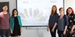 Das Entwicklungsteam des vhs-Ehrenamtsportals bei der Launchpräsentation
